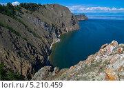 Купить «Скалы на северной оконечности острова Ольхон. Байкал.», фото № 5210459, снято 21 июля 2013 г. (c) Сергей Рыбин / Фотобанк Лори