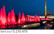 Купить «Москва, фонтаны и музей истории Великой Отечественной войны на Поклонной горе вечером», фото № 5210479, снято 20 августа 2013 г. (c) ИВА Афонская / Фотобанк Лори