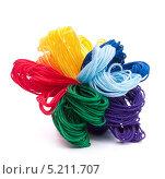 Купить «Разноцветные нитки мулине», фото № 5211707, снято 23 января 2012 г. (c) Natalja Stotika / Фотобанк Лори