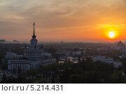 Москва, вид на ВВЦ (2013 год). Редакционное фото, фотограф Кирилл Пономарёв / Фотобанк Лори