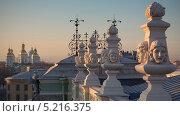 Купить «Санкт-Петербург, маски на крыше старой сцены Мариинского театра», фото № 5216375, снято 10 июля 2020 г. (c) Смелов Иван / Фотобанк Лори