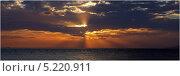 Закат над морем. Стоковое фото, фотограф Святослав Гордин / Фотобанк Лори