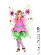 Купить «Девочка в розовом костюме феи с крылышками», фото № 5222939, снято 22 мая 2013 г. (c) Сергей Сухоруков / Фотобанк Лори