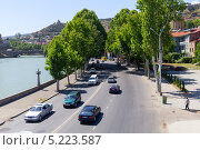 Купить «Правая набережная реки Мтквари. Тбилиси. Грузия», фото № 5223587, снято 3 июля 2013 г. (c) Евгений Ткачёв / Фотобанк Лори