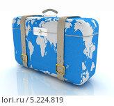 Купить «Большой чемодан с картой мира», иллюстрация № 5224819 (c) Guru3d / Фотобанк Лори
