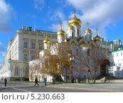 Купить «Московский Кремль, Благовещенский собор, Москва», эксклюзивное фото № 5230663, снято 30 октября 2013 г. (c) lana1501 / Фотобанк Лори