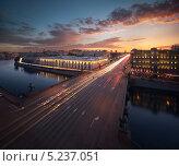 Купить «Санкт-Петербург, панорама вид на Аничков мост с крыши», фото № 5237051, снято 20 апреля 2013 г. (c) Смелов Иван / Фотобанк Лори