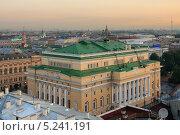 Купить «Санкт-Петербург, утренний вид с крыши на Александринский театр», фото № 5241191, снято 25 августа 2011 г. (c) Смелов Иван / Фотобанк Лори
