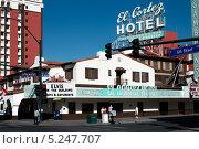 Отель и казино El Cortez в Лас-Вегасе (2013 год). Редакционное фото, фотограф Aleksandr Stzhalkovski / Фотобанк Лори