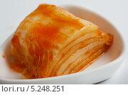 Купить «Домашнее кимчи - пекинская капуста, корейская традиционная еда, на белом фоне», фото № 5248251, снято 3 ноября 2013 г. (c) Александр Fanfo / Фотобанк Лори