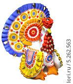 Купить «Дымковская игрушка», фото № 5262563, снято 9 ноября 2013 г. (c) Михаил Смирнов / Фотобанк Лори