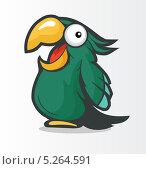 Зеленый какаду. Стоковая иллюстрация, иллюстратор Вероника Ковалева / Фотобанк Лори