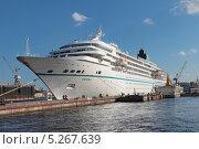 Купить «Круизный лайнер MS Amadea в порту Санкт-Петербурга», фото № 5267639, снято 3 июля 2013 г. (c) Игорь Долгов / Фотобанк Лори