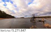 Купить «Дамба, таймлапс», видеоролик № 5271847, снято 14 ноября 2013 г. (c) Никита Майков / Фотобанк Лори