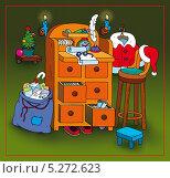 Бюро Деда Мороза. Стоковая иллюстрация, иллюстратор Марина Рюмина / Фотобанк Лори