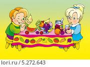 Пир. Стоковая иллюстрация, иллюстратор Марина Рюмина / Фотобанк Лори