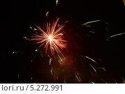 Купить «Красочные фейерверки в ночном небе», фото № 5272991, снято 13 октября 2012 г. (c) Иван Бондаренко / Фотобанк Лори