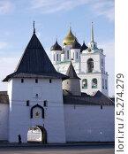 Вид на Псковский Кремль (2013 год). Редакционное фото, фотограф Людмила Жмурина / Фотобанк Лори