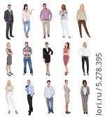 Купить «люди в повседневной одежде. Коллаж», фото № 5278395, снято 19 марта 2019 г. (c) Андрей Попов / Фотобанк Лори