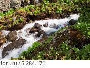 Горная река. Стоковое фото, фотограф Анастасия Ефремова / Фотобанк Лори