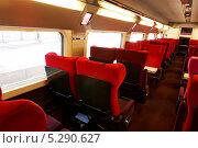 Купить «Интерьер высокоскоростного поезда», фото № 5290627, снято 19 сентября 2013 г. (c) Vitas / Фотобанк Лори