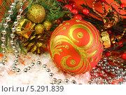 Купить «Новогодняя композиция», фото № 5291839, снято 13 ноября 2013 г. (c) Виктор Топорков / Фотобанк Лори