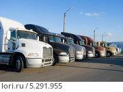 Купить «Грузовые автомобили», эксклюзивное фото № 5291955, снято 22 октября 2013 г. (c) Александр Щепин / Фотобанк Лори