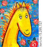 Купить «Детский рисунок.Лошадь», иллюстрация № 5295727 (c) Стефания Домогацкая / Фотобанк Лори