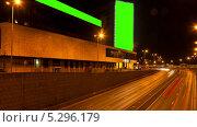 Купить «Билборды на ночной улице, таймлапс», видеоролик № 5296179, снято 23 ноября 2013 г. (c) Виктор Тихонов / Фотобанк Лори