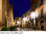 Купить «Ночной вид старых улиц Толедо, Испания», фото № 5296227, снято 22 августа 2013 г. (c) Яков Филимонов / Фотобанк Лори