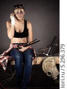 Купить «Юмористический портрет женщины-инженера в состоянии конфуза», фото № 5296379, снято 16 ноября 2013 г. (c) Quadshock / Фотобанк Лори