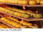 Купить «Нидерланды. Полки в сырном магазине. Изобилие сортов сыра», эксклюзивное фото № 5296807, снято 4 октября 2013 г. (c) Александр Тарасенков / Фотобанк Лори
