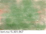 Текстура исцарапанной, неровной, крашенной, зелёной стены. Стоковое фото, фотограф Ислам Ижаев / Фотобанк Лори