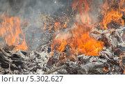 Горящая мусорная свалка. Стоковое фото, фотограф Ислам Ижаев / Фотобанк Лори