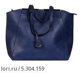 Купить «Синяя женская сумка», фото № 5304159, снято 29 октября 2013 г. (c) Egorius / Фотобанк Лори