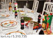 Купить «Сервировка детского стола», эксклюзивное фото № 5310735, снято 24 мая 2012 г. (c) Алёшина Оксана / Фотобанк Лори