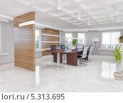 Купить «Интерьер современного офиса», иллюстрация № 5313695 (c) Виктор Застольский / Фотобанк Лори