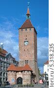 Белая башня (Weisser Turm) в Нюрнберге, Германия (2012 год). Стоковое фото, фотограф Михаил Марковский / Фотобанк Лори