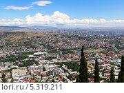 Купить «Панорама Тбилиси. Грузия», фото № 5319211, снято 3 июля 2013 г. (c) Евгений Ткачёв / Фотобанк Лори