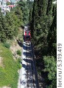 Купить «Фуникулер на горе Мтацминда. Тбилиси. Грузия», фото № 5319419, снято 3 июля 2013 г. (c) Евгений Ткачёв / Фотобанк Лори