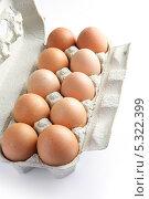 Купить «Упаковка из 10 яиц», фото № 5322399, снято 16 июня 2009 г. (c) Phovoir Images / Фотобанк Лори