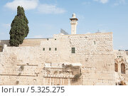 Купить «Фрагмент внешней стены древнего города Иерусалим. Израиль», фото № 5325275, снято 12 ноября 2013 г. (c) Александр Овчинников / Фотобанк Лори