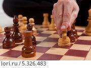 Купить «Игра в шахматы. Ход конём», фото № 5326483, снято 1 декабря 2013 г. (c) Николай Мухорин / Фотобанк Лори