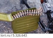 Купить «Магазин с патронами для ручного пулемета», фото № 5326643, снято 7 ноября 2013 г. (c) FotograFF / Фотобанк Лори
