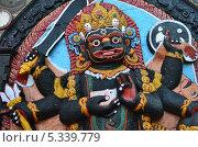 Купить «Непал, Катманду, барельеф Калы Бхайравы на площади Дарбар», фото № 5339779, снято 25 октября 2012 г. (c) Овчинникова Ирина / Фотобанк Лори