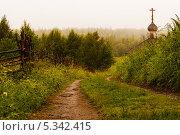 Дорога к деревянной часовне острова Анзер. Стоковое фото, фотограф Александр Шипов / Фотобанк Лори