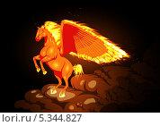 Пламенный конь. Стоковая иллюстрация, иллюстратор Игорь Бахтин / Фотобанк Лори
