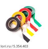 Рулоны разноцветной липкой ленты. Стоковое фото, фотограф Стебловский Александр / Фотобанк Лори