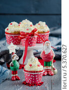 Рождественские кексы. Стоковое фото, фотограф Ульяна Хорунжа / Фотобанк Лори