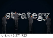Купить «Multiple image of a businessman writing strategy », фото № 5371723, снято 15 сентября 2019 г. (c) Wavebreak Media / Фотобанк Лори